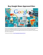 Buy Google News Approved Sites