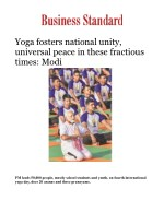 Yoga fosters national unity, universal peace in these fractious times: Modi