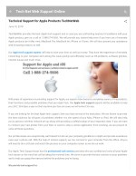 Technical Support for Apple Products TechNetWeb