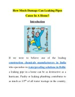 How Much Damage Can Leaking Pipes Cause In A Home?