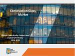 Construction Glass Market to Reach $121,877 Million, Globally, by 2022