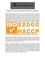 HACCP Hand in Hand with ISO 22000