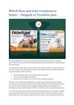 Which fleas and ticks treatment is better – Nexgard or Frontline plus