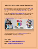 Buy IELTS certificate online - Buy Real Fake Documents