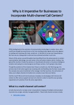 Why is it Imperative for Businesses to Incorporate Multi-channel Call Centers?