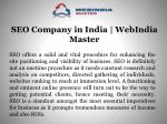 SEO Company in India | WebIndia Master