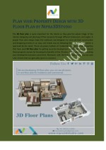 PLAN YOUR PROPERTY DESIGN WITH 3D FLOOR PLAN BY NIPRA3DSTUDIO