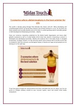What are Scenarios Where Abdominoplasty is the Best Solution?