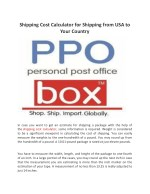 Shipping Cost Calculator for Shipping from USA to Your Country