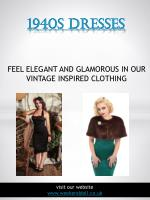 1940s style dresses | https://www.weekenddoll.co.uk/collections/1940s-style-dresses