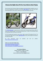 Choose the Right Gas ATV for Your Kids to Start Flying