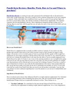 Purefit Keto Reviews: Benefits, Work, How to Use and Where to purchase?