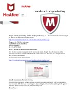mcafee product activation