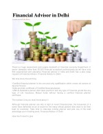 Financial Advisor in Delhi