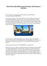 How to pick an Abu Dhabi investment property - Buy property in abu dhabi