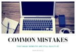 Common Mistakes That Many Websites Are Still Guilty Of