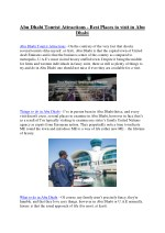 Abu Dhabi Tourist Attractions - Best Places to visit in Abu Dhabi UAE