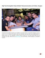 High Tech Get-together Party of British Telecommunications at 21 Shots, Gurgaon