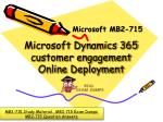 Get Latest June 2018 Microsoft MB2-715 Exam Questions - MB2-715 Exam Dumps PDF