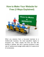 How to Make Your Website for Free (3 Ways Explained)