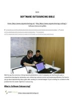 What is software outsourcing and how to do software outsourcing