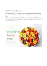 15 Diabetes Friendly Fruits