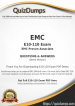 E10-110 Exam Dumps - Pass with E10-110 Dumps PDF [2018]