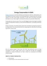 Energy Conservation in Delhi