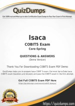 COBIT5 Exam Dumps - Actual COBIT5 Dumps PDF