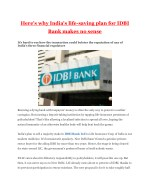 Here's why India's life-saving plan for IDBI Bank makes no sense