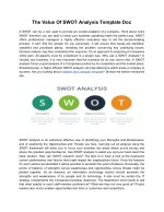 The Value Of SWOT Analysis Template Doc
