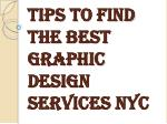 Tips to Find the Best Graphic Design Services NYC