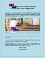 Floor Polishing and cleaning services