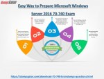 Pass Microsoft Windows Server 2016 70-740 Exam in first attempt with valid 70-740 Dumps