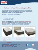 Get Stearns & Foster Mattress at Exceptional Prices