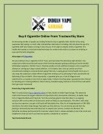 Buy E Cigarette Online From Trustworthy Store