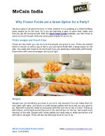 Why Frozen Foods are a Great Option for a Party?