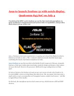 Asus to launch Zenfone 5z with notch display, Qualcomm 845 SoC on July 4