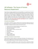 HR Software- The Future of Human Resource Department