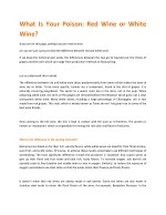 What Is Your Poison: Red Wine or White Wine?