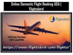Find Online Domestic Flight Booking USA at Flightsbird