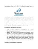 Westcoast Escalator Cleaning Services USA