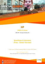 HPE0-J74 HP HPE ATP - Storage Solutions V2 HPE0-J74 Exam Questions | Download Instantly