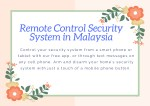 Remote Control Security System in Malaysia