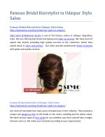 Famous Bridal Hairstylist in Udaipur Stylo Salon
