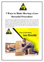 7 Ways to Make Moving a Less Stressful Procedure