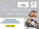 Buy Updated AWS Certified Big Data - Specialty Exam Dumps PDF File - Dumps4Download