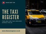 Find Taxi Companies and Car Hire Services