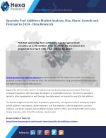 Global Specialty Fuel Additives Market Research Report, 2024