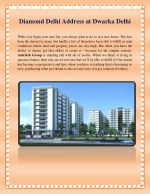 Diamond Delhi Address by Diamond Multistate CGHS at Dwarka Delhi